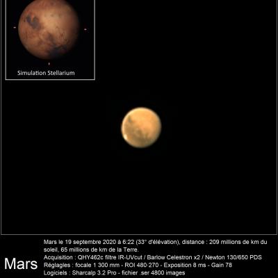 Mars 19 septembre 2020 462c 130pds celestronx2