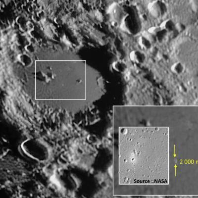 Cratère Longomontanus - Echelle & image NASA