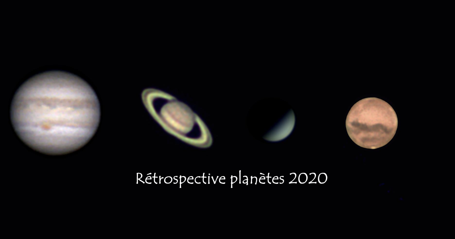 Rétrospective planètes 2020